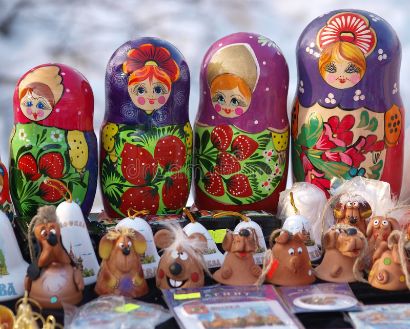 Nested dolls stock photography