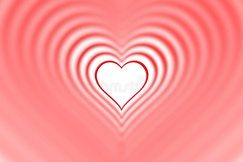 Nested red background hearts. Happy valentines day royalty free stock photo