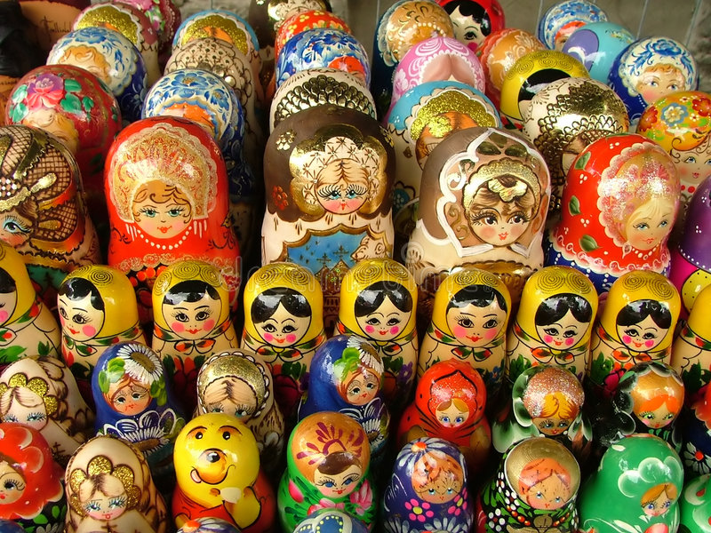 Nesting dolls. Russian nesting dolls royalty free stock photos