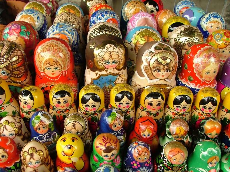 Nesting dolls royalty free stock photos