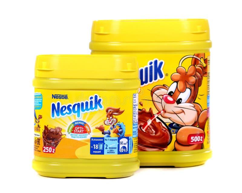 Nestle Nesquik kakao arkivbild
