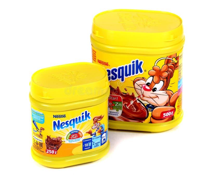 Nestle Nesquik kakao fotografering för bildbyråer