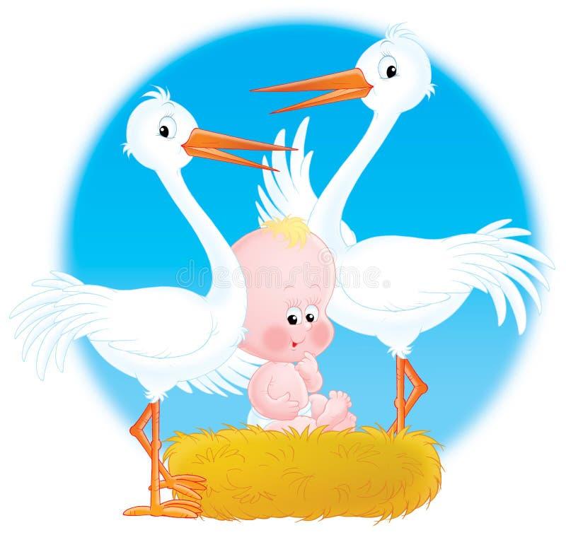 Nestling do bebê ilustração royalty free
