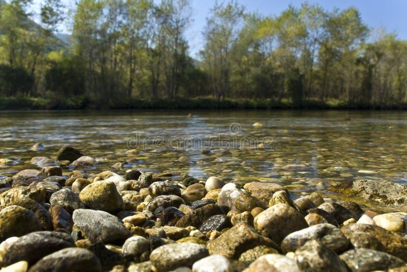 Nestos river at Thrace, Greece. (near Xanthi city stock image
