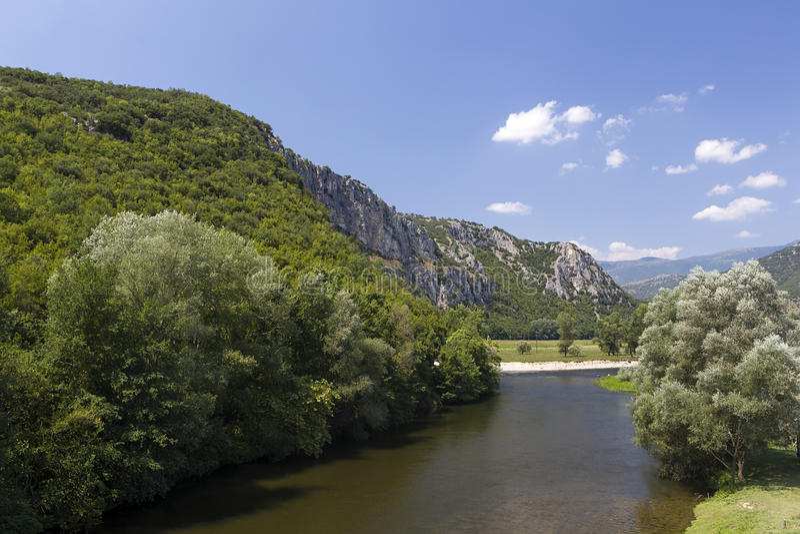 Nestos river at Thrace. Greece royalty free stock photo