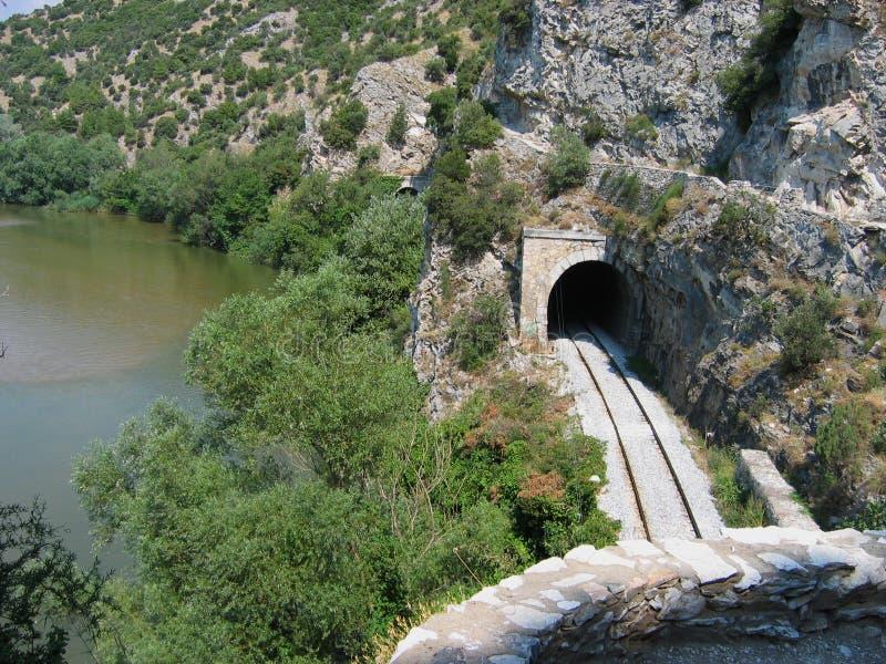 Nestos rzeka blisko Xanthi Thrace Grecja obraz stock
