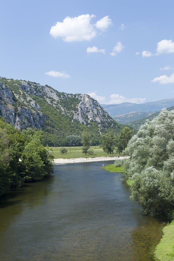 Nestos rzeka przy Thrace fotografia royalty free
