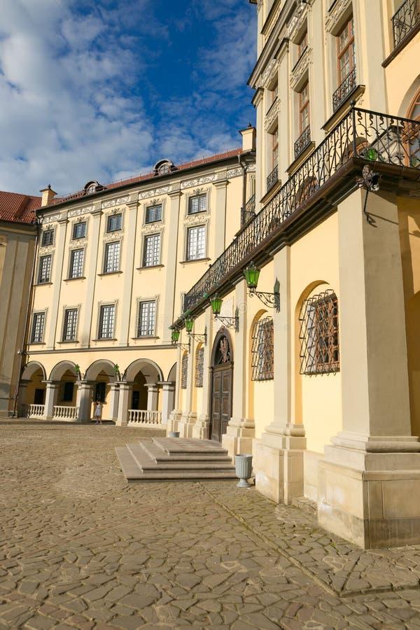 NESVIZH, BELARUS - May 20, 2017: Medieval castle in Nesvizh, Minsk Region, Belarus. stock photography