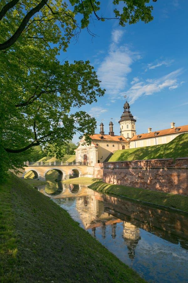NESVIZH, BELARUS - May 20, 2017: Medieval castle in Nesvizh, Minsk Region, Belarus. royalty free stock photography