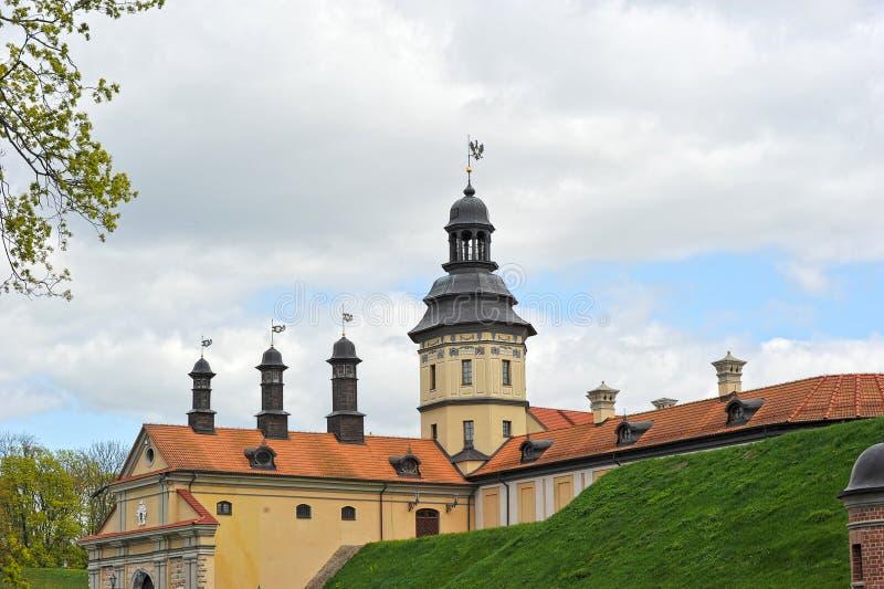 Nesvizh Castle - belarusian tourist landmark attraction. Medieval castle in Nesvizh, Belarus stock photos