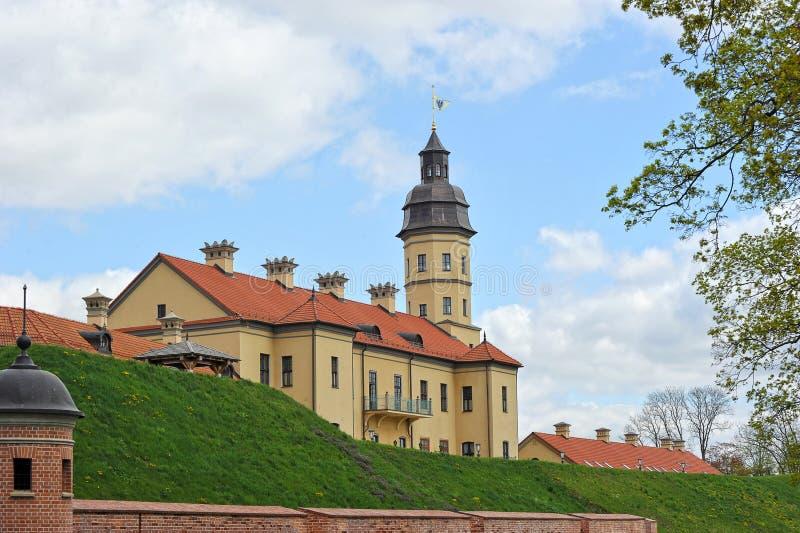 Nesvizh Castle - belarusian tourist landmark attraction. Medieval castle in Nesvizh, Belarus royalty free stock photos