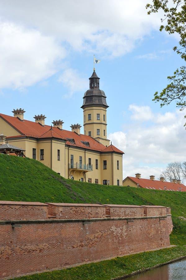 Nesvizh Castle - belarusian tourist landmark attraction. Medieval castle in Nesvizh, Belarus stock photo