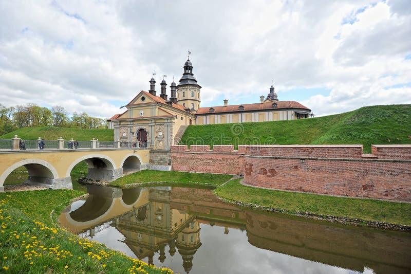 Nesvizh Castle - belarusian tourist landmark attraction. Medieval castle in Nesvizh, Belarus stock image