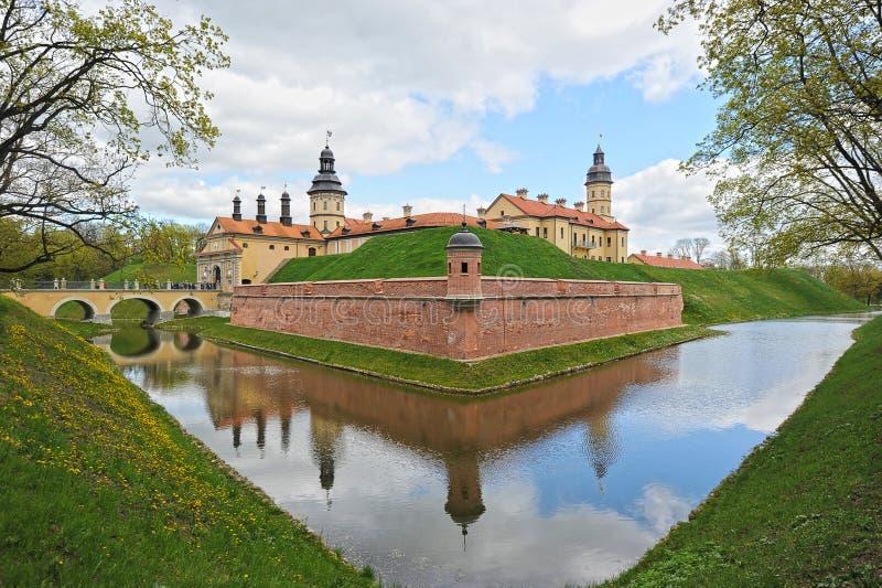 Nesvizh Castle - belarusian tourist landmark attraction. Medieval castle in Nesvizh, Belarus royalty free stock images