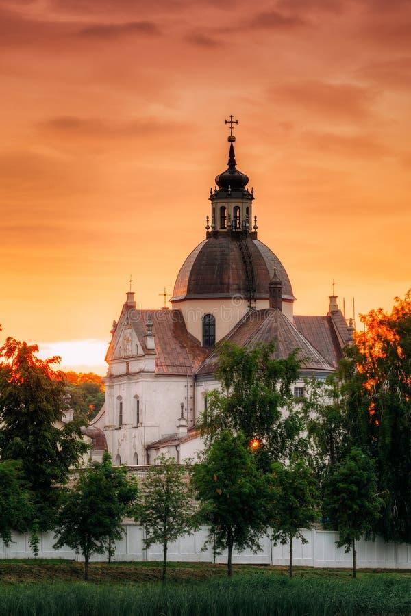 Nesvizh, région de Minsk, Belarus Corpus Christi Church In Summer photographie stock libre de droits