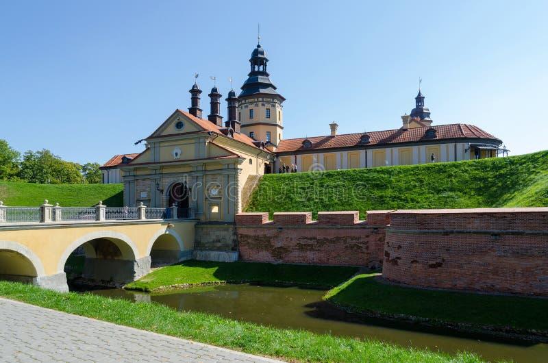 Nesvizh-Schloss, Minsk-Region, Weißrussland stockbilder