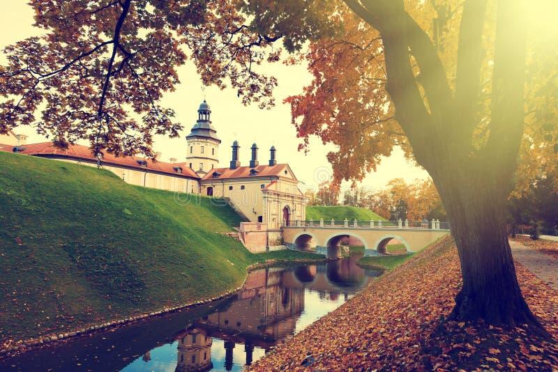 Nesvizh slott i Vitryssland arkivbild