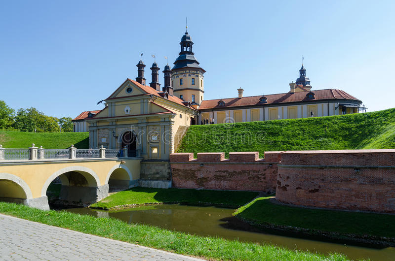 Nesvizh slott, Minsk region, Vitryssland arkivbilder