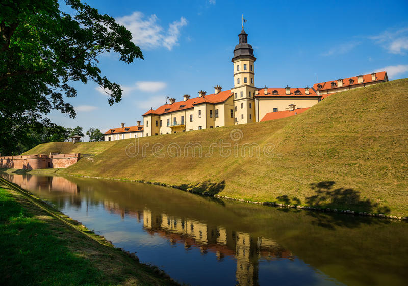 Nesvizh slott, Vitryssland arkivbild