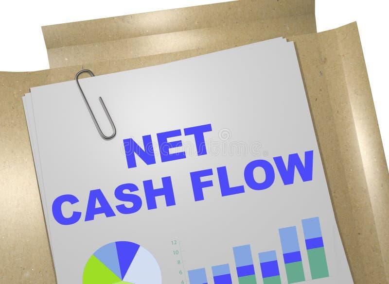 Net Cash Flow concept vector illustration