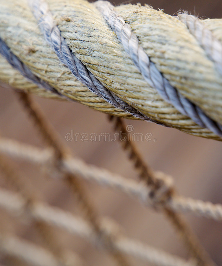 Download Net close-up stock image. Image of close, grey, heap, harbour - 5265009