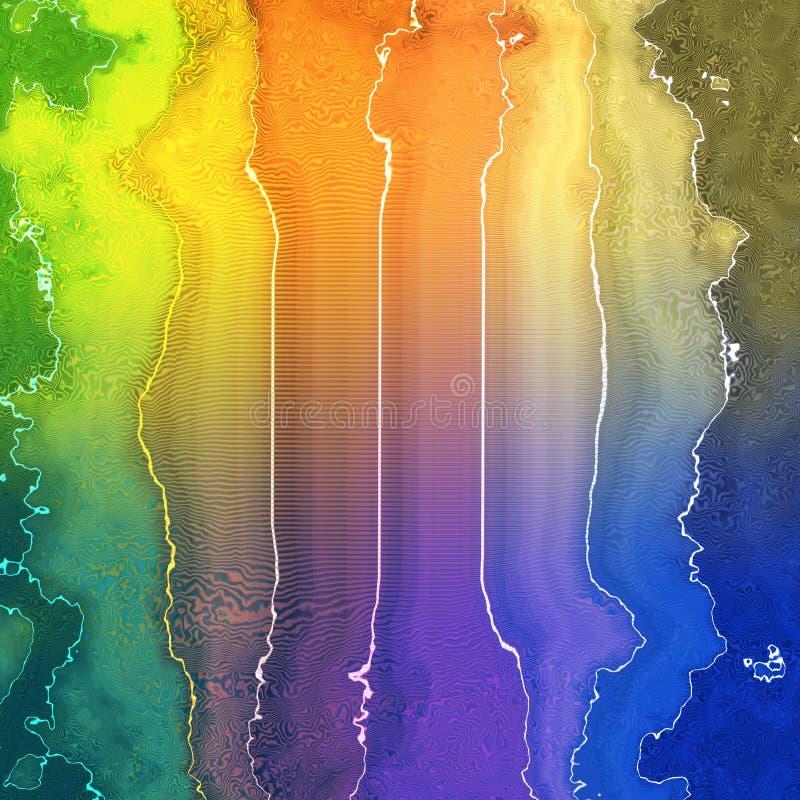 Net en fractal regenboog stock foto