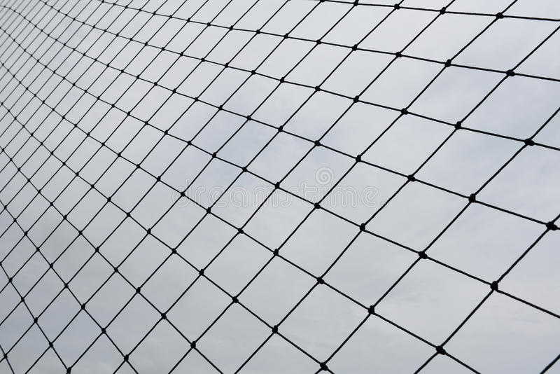 Net. Of the football field royalty free stock image