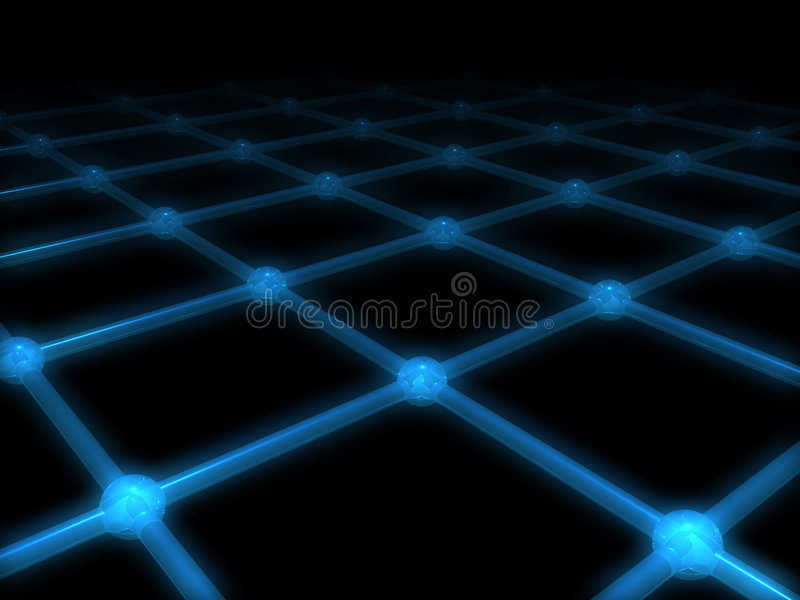A net with glow effect. A 3d net with glow effect royalty free illustration