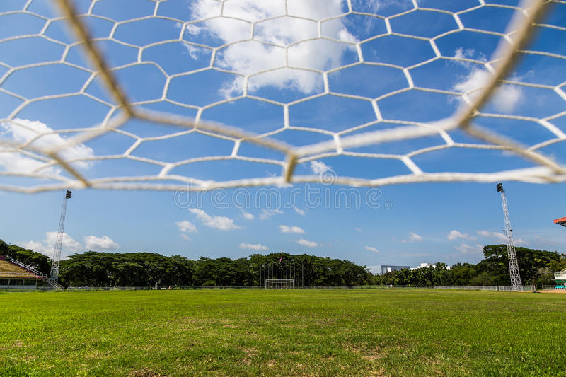 Download Net goal. stock image. Image of football, ground, construction - 32523595