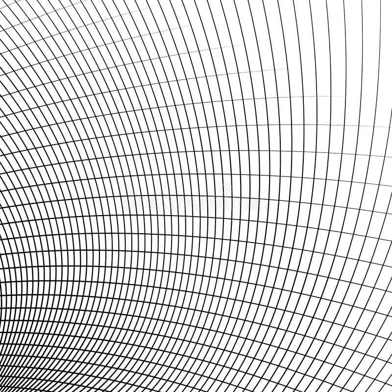 Net - netwerk van dynamische gebogen lijnen Abstract Geometrisch patroon stock illustratie