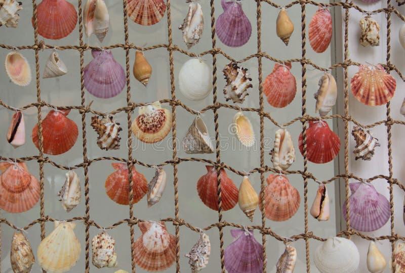 Net with seashells