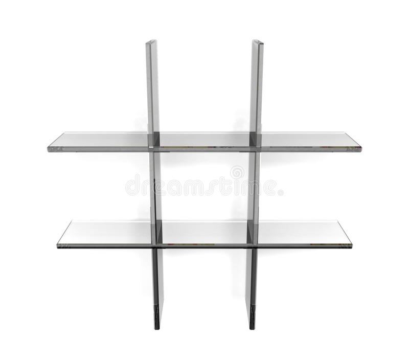 Net shelfs vector illustratie