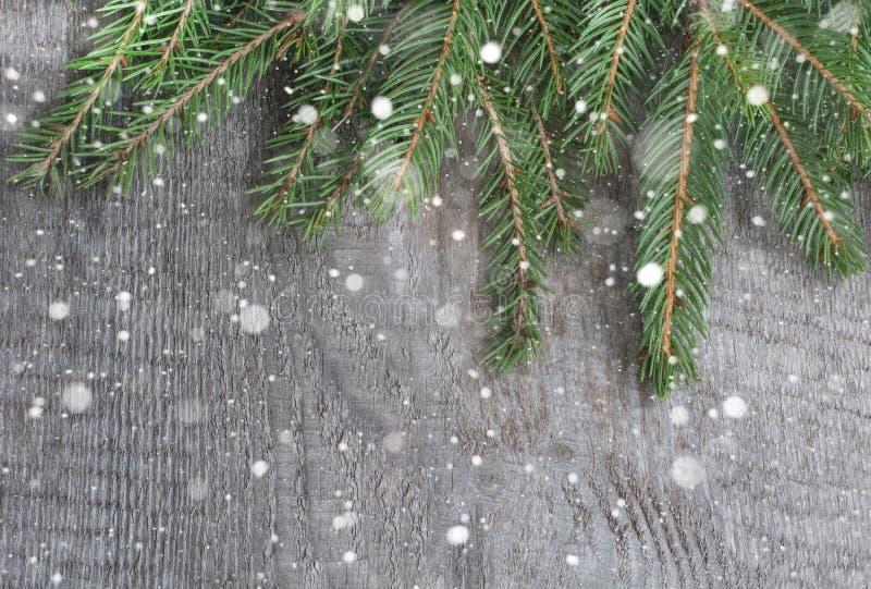 Net takje op lijst, Kerstmisachtergrond Hoogste mening met exemplaarruimte stock afbeeldingen
