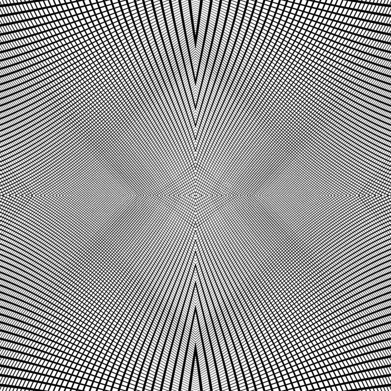 Net van dynamische lijnen Foutloos herhaalbaar netwerkpatroon Disto stock illustratie
