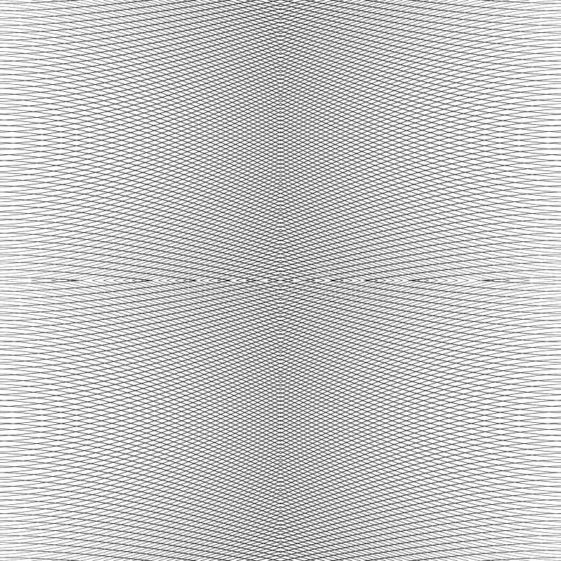 Net van dynamische lijnen Foutloos herhaalbaar netwerkpatroon Disto royalty-vrije illustratie