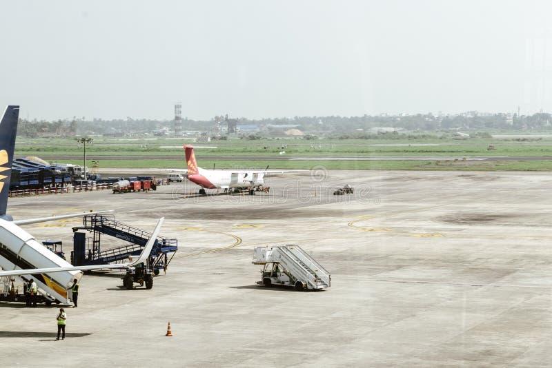 Netaji Subhas Chandra Bose International Airport Dum Dum Airport , Kolkata India 25 December 2018 - Inside View of Netaji Subhas royalty free stock photo