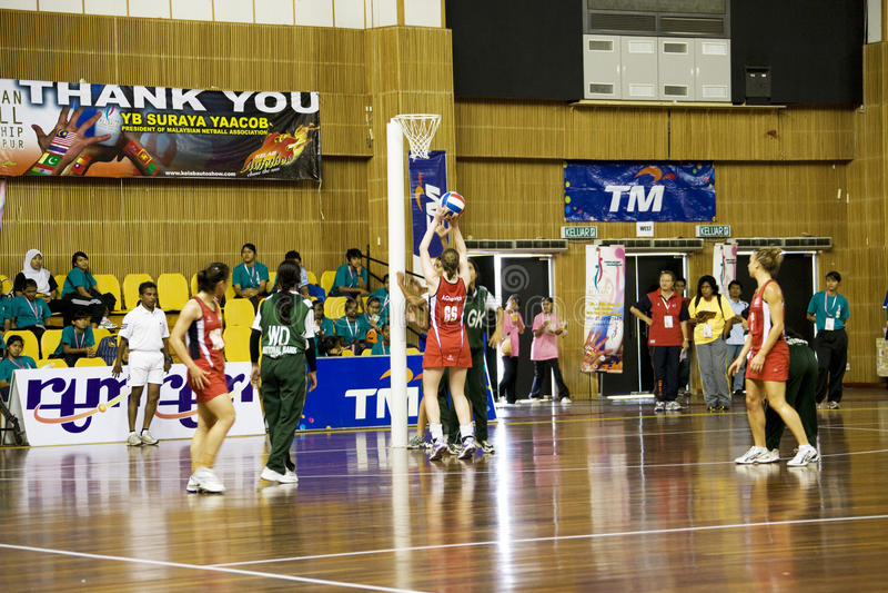 netball чемпионата 7th действия азиатский стоковое изображение