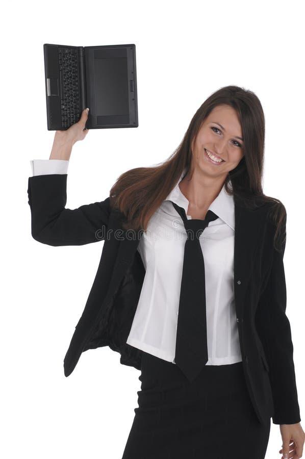 netbook девушки стоковые изображения