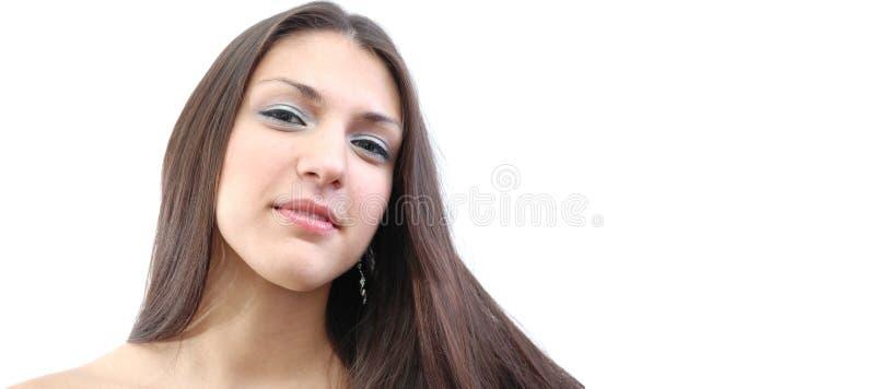 Download Netelige brunette stock foto. Afbeelding bestaande uit blauw - 291918