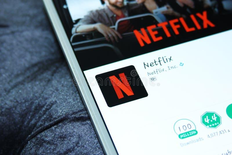 Netflix app στοκ φωτογραφίες
