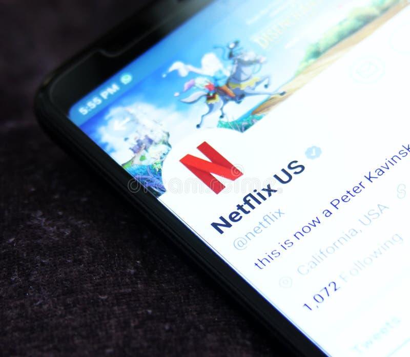 Netflix-Gezwitscher lizenzfreies stockfoto