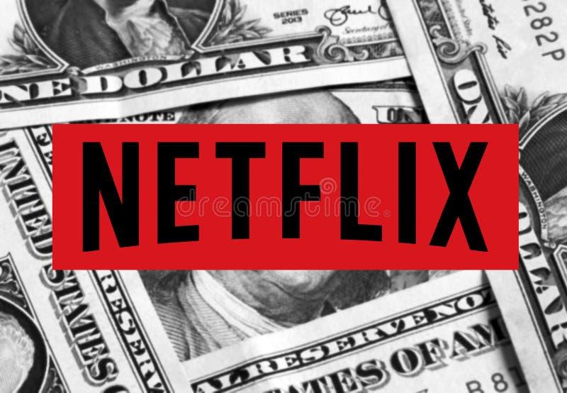 Netflix loga ikona zdjęcie stock