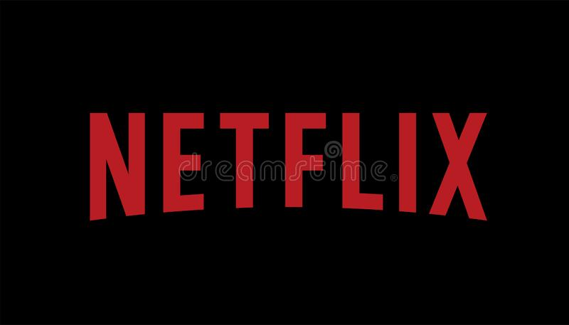 Netflix Logo Editorial Vector royaltyfri illustrationer