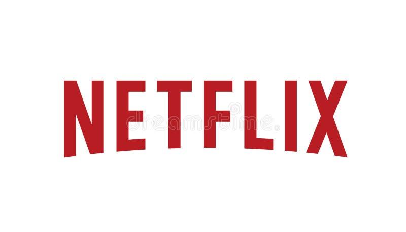 Netflix Logo Editorial Vetora ilustração do vetor