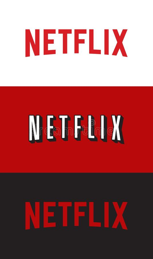 Netflix logo. High quality vector collection of three different netflix logos. Editable eps file available