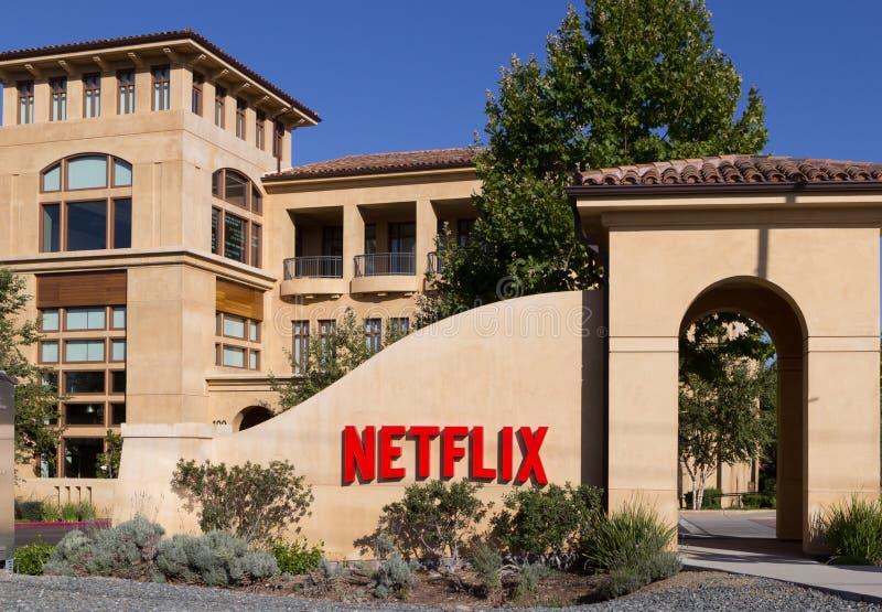 Netflixhoofdkwartier, Los Gatos, Californië de V.S. stock afbeelding