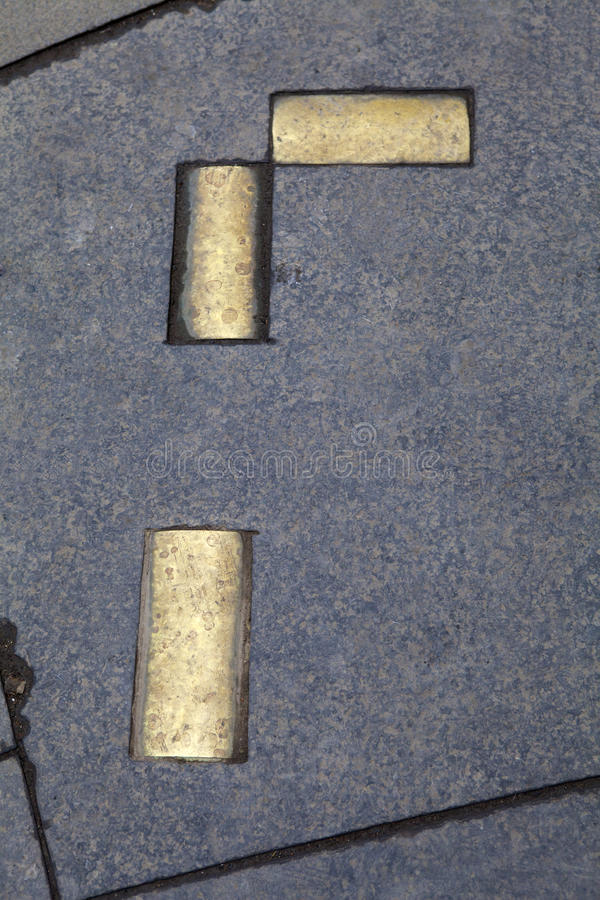 Netherbow portmarkörer i Edinburg royaltyfri bild