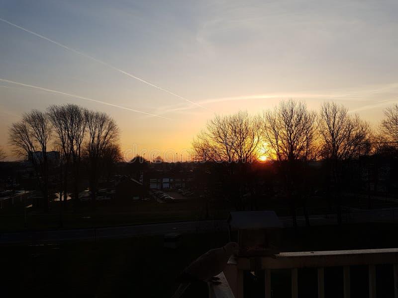 Netherland de la salida del sol fotos de archivo