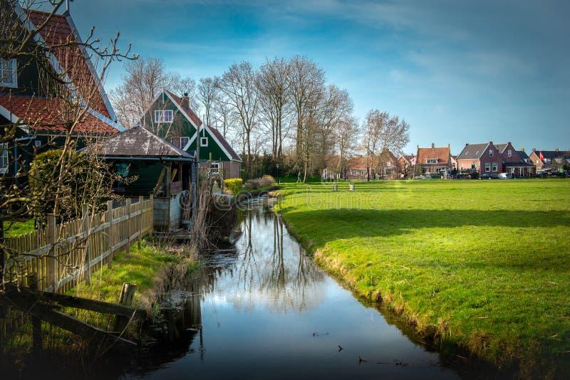 Netherland wioska Holland, zaan schans obraz stock
