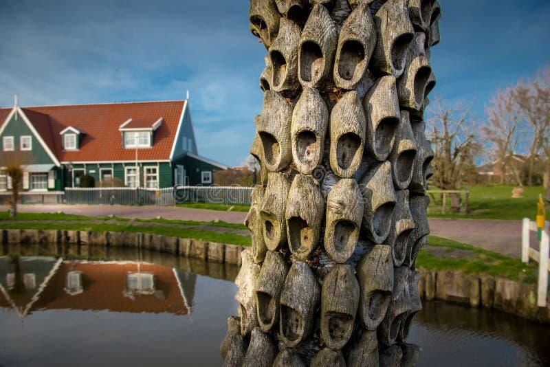 Netherland wioski holendera buty, drewniani holenderscy buty, obrazy stock